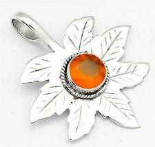 Carnelian Gemstone Pendant Solid 925 Sterling Silver Jewelry IP24424