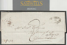 MS265 1826 GB POSTMARKS Oval *Missent to Gloucester* Legacy EL DIRECTED *Stroud*