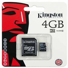 KINGSTON 4gb Micro SDHC SD MEMORY CARD PER NINTENDO DS DSI XL 3ds Lite-Wii