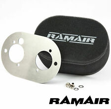RAMAIR Carb Air Filters With Baseplate Weber 40 DCOE 25mm Bolt On