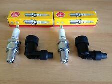 TRIUMPH T120 BONNEVILLE TR6 TIGER TROPHY NGK SPARK PLUGS AND CAPS FREE POST!