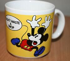 Disney MICKEY MOUSE Don't Waste a Drop Vintage Tea Coffee Mug Cup