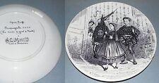 ASSIETTE OPERA BOUFFE CROQUIGNOLE la ronde du pont de Nantes Montereau ca 1900