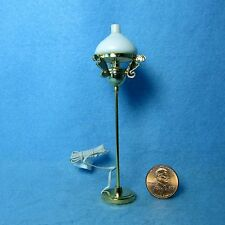 Dollhouse Miniature 12v Floor Lamp with White Globe Shade ~ 00647