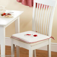 POPPY GINGHAM RED 16x16 SEAT PAD TO MATCH KITCHEN CURTAINS