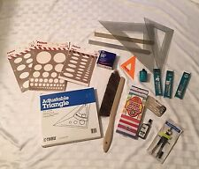 Architect Tools Drafting Ellipses Drawing Leads Ink Rulers Triangles Brush etc