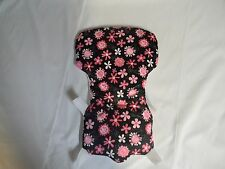 Eddie Bauer High Chair Cover Or Carter in Black With Pink Flowers ~~~WIPEABLE~~~
