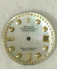 Rolex men's datejust QS white MOP custom 8+2 string  diamond  dial 2-T