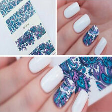 Fashion 3D Nail Art Water Decals Transfer Stickers Blooming Flower Tips L7S