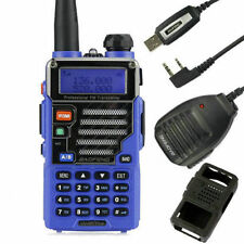 Baofeng UV-5R Plus Blue V/UHF Transceiver + USB Cable +Speaker +Softcase Bundle