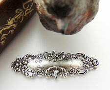 SILVER (2 Pieces) Renaissance Floral Bar Flower Stamping ~ Finding (CA-3086)