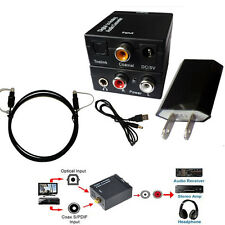 DAC Digital Optical Toslink Coaxial to Analog RCA Audio Converter Adapter 3.5mm