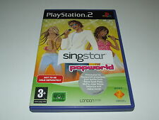 SINGSTAR : POPWORLD  for PS2  (PAL)  VERY GOOD CONDITION COMPLETE