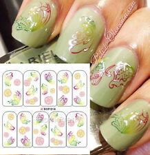 Color Changing ailes Papillon Nail Art Water Decals Ongle Autocollant Stickers