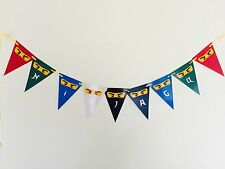 1x Lego Ninjago Banner Bunting Flag. Party Supplies Room Deco Ninja Lolly Bag