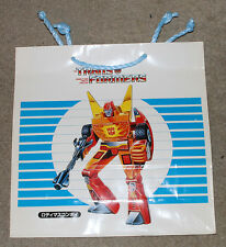 1986 Japan Takara Transformers Movie Shop Bag Unused (Original) Rodimus Prime