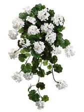 "47"" Water-Resistant Geranium Hanging Bush (Pack of 4) Artificial Flower Silk"