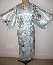 RRP £64 NEW PETITE ADULT/ LARGE GIRL'S JAPANESE KIMONO SILKY DRESSING GOWN ROBE