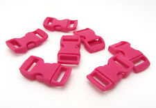 """New 12pcs 3/8"""" Curved Side Release Plastic Buckle  for Paracord Bracelet Rose"""