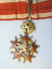 CZECH REPUBLIC CZECHOSLOVAKIA  ORDER OF THE WHITE LION, COMMANDER, 1930s, SUPERB