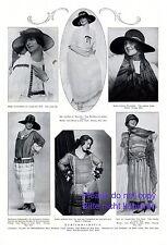 Sommermode 20er Jahre XL 1924 Seite mit 6 Abb. Minzenti Cartellieri Wessely Wien