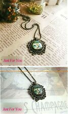 Vintage Elegant Charm Lovely Cheshire Cat Pictures Pendant Long Necklace