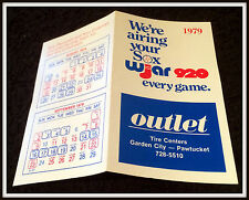 1979 BOSTON RED SOX OUTLET TIRE CENTERS BASEBALL POCKET SCHEDULE FREE SHIPPING