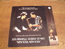 NEW YORK NEW YORK  (1977) movie  publicity leaflet. Liza Minnelli, R De Nero