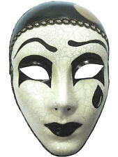 Mime Full Mask With Tear Greek Tragedy Venetian Masquerade Prom Fancy Dress