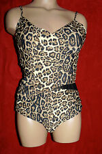 Vee One Piece Cheetah Print Sz 12 OR 14 Retail $149 See Thru Black Netting