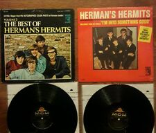 HERMAN'S HERMITS Introducing MONO Best Of Vol 2 Stereo LOT LP poster MGM vinyl