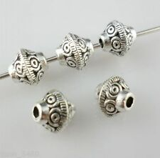 30pcs Tibetan Silver Charms Cone-shaped Spacer Beads 6.5x7mm For Jewelry Making