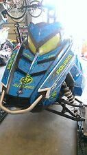 POLARIS RUSH PRO RMK ASSAULT 120 144 155 163 hood wrap kit DECAL splatter blue 1