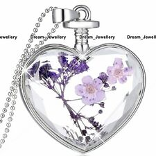 BLACK FRIDAY DEALS Purple Heart Necklace Silver Jewellery Xmas Gifts Women BD1