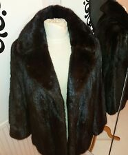 Ladies Real Mink fur Jacket Coat. Highest QUALITY  Ranch Mink Darkest Brown