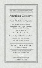 American Cookery by Simmons, Amelia