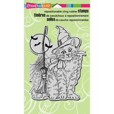New Stampendous RUBBER STAMP cling WITCHY CAT  HALLOWEEN free us ship