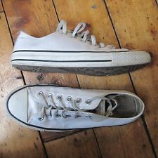 Converse Chuck Taylor All Star White Leather Lo Low Top Trainers UK 8 Men's