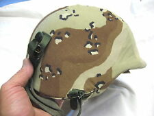 HTF Very Fine+ Size Large PASGT Helmet 1983 w/ 6 Color Cover 1991 Gulf War L-2