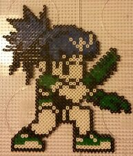 Leona Heidern King of fighters-Bead sprite perler pixel art - Perles à repasser
