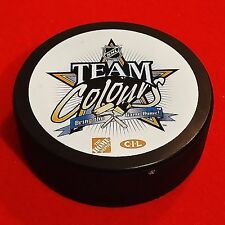 Team Colours - Bring The Game Home - Hockey Puck - Home Depot/CIL Sponsors - NHL