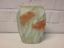 Vintage Phoenix / Consolidated Art Glass Vase w/ Owls on Tree Branch Decoration