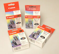 (PRL) CANON BCI-21 COLOUR BLACK LOTTO CARTUCCE INCHIOSTRO LOT INK CARTRIDGES