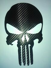 STICKER ADESIVO TESCHIO PUNISHER 7 CM CARBONIO 3D AUTO MOTO CARBONLOOK