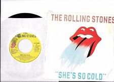ROLLING STONES * 45 * She's So Cold * 1980 * VG++ ORIGNAL Canadian Vinyl with PS