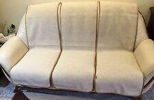 Möbelschoner Set 6 Stück, Couchschoner in Wellenoptik beige,Überwurf,100%Wolle