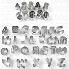 Alphabet Letter & Number Fondant Icing Cutter Set 37 Piece Cake Decorating Mold