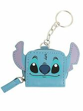 Disney Lilo and Stitch Zip Keychain Mini Purse Coins Faux Leather Zipper New