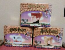 Harry Potter Mugs Set of 3 Ron Hedwig & Hermoine Enesco 2000 New Boxed