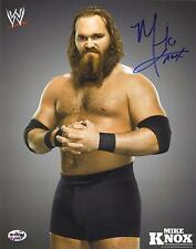 Mike Knox Signed 8X10 WWE Promo Photo PSA/DNA Quick Opinion